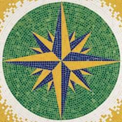 Mosaico en kit Rosa de los vientos Aedes Ars