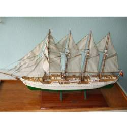 Maqueta montada Juan Sebastián Elcano