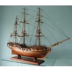 Maqueta naval montada Pandora, artesanal