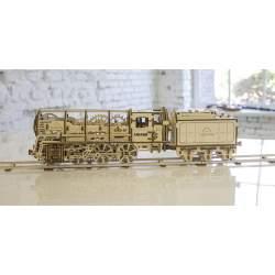 Maqueta Locomotora de vapor con tender 3D UGEARS