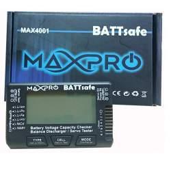 Cargador - Comprobador y Servo Tester BATTsafe MAXPRO
