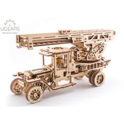 Contrucción en madera - Camión de bomberos con escalera aérea UGEARS