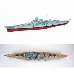 Battleship Bismarck con camuflaje, escala 1: 150, Premium Line