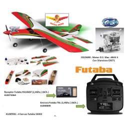 Combo Avión Boomerang40 ARTF + Motor Max 46AX II + Emisora Futaba + Receptor + 4 servos rc explosion Seagull Model