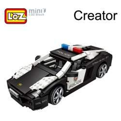 Construcción de bloques Lamborghini Policía Loz