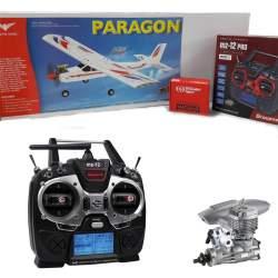 Combo Avión Entrenador Paragon .45-55 Phoenix Model + Emisora + Motor