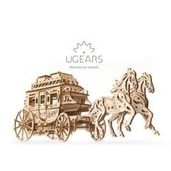 UGEARS Carruaje tirado por caballos