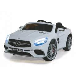 Coche con bateria y mando para padres - Mercedes SL65 blanco 12V - Jamara