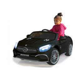 Coche con bateria y mando para padres - Mercedes SL65 negro 12V - Jamara