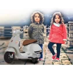 Moto con bateria Ride-on Vespa blanca 12V - Jamara