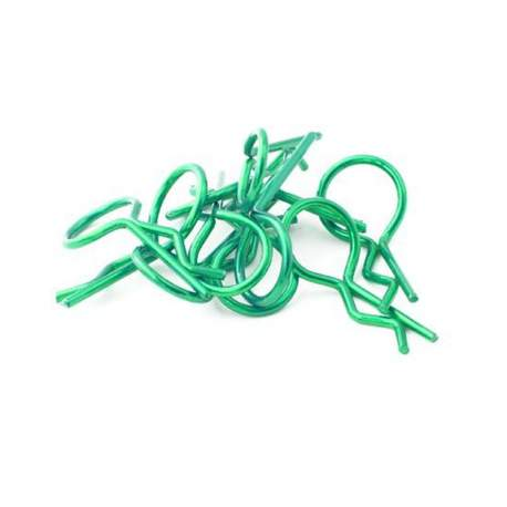 Clips para coches 28mm verde