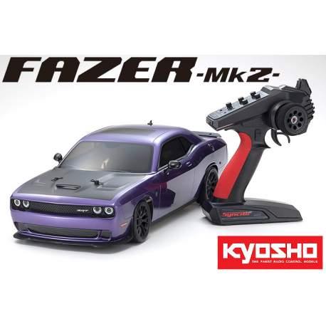 Coche Fazer Mk2 Dodge HELLCAT Purple Challenger SRT2015 1/10 EP 4WD - Kyosho