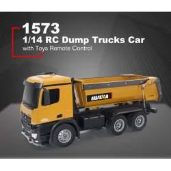 Camión eléctrico rc 1/14 con volquete metálico RTR + 2 baterías extras - Huina
