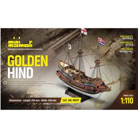 MiniMaqueta Naval - Golden Hind - 1/110 Mamoli