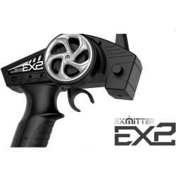 Emisora de volante EX2 2.4G 2CH Transmisor + Receptor ESR 301 3CH - Volantex