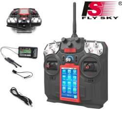 Emisora FS-i8 8CH 2.4ghz con Receptor FS-iA10B - FlySky