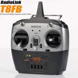 Emisora T8FB V2 de 8 canales con modo S.BUS 2 + R8EF Receptor de 8 canales - RadioLink