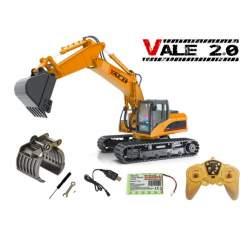 Excavadora RC con dos útiles metálicos RTR 1:14 VALE 2.0 - DF Models