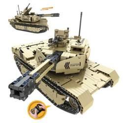 Construcción de bloques-RC Tanque 2.4G 8CH con batería 1276 pcs