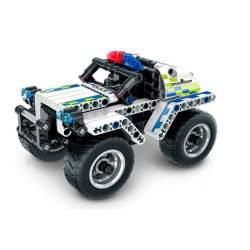 Construcción de bloques-Coche de Policía Pull Back 199 pcs