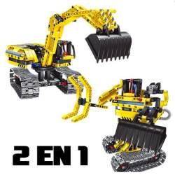 Construcción de bloques-2 en 1 Excavadora y Robot 342pcs