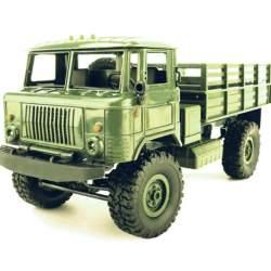 Camión RC Militar Ruso GAZ-66 4x4 crawler completo RTR WPL B-24 1/16 GREEN ARM