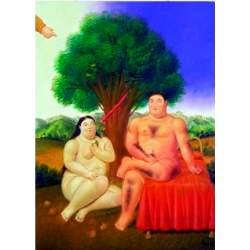 Puzzle Adán y Eva. 1000 pz. Fernando Botero - Ricordi Arte