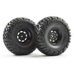 Rueda Crawler 2.2 FASTRAX 1/10 Granite 140mm Negro