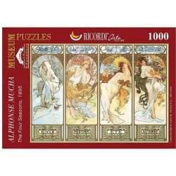 Puzzle 1895 ALFONS MUCHA. Las cuatro estaciones 1000 Piezas - Ricordi