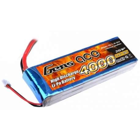 Bateria de Li-Po 7.4V - 4000 mAh 2S 25C Dean-GENS ACE
