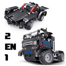 Construcción de bloques RC 2 en 1 Camión y coche Batería 486pcs