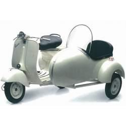 Moto de colección Vespa Piaggio 150 VL1T con sidecar 1/6-New Ray