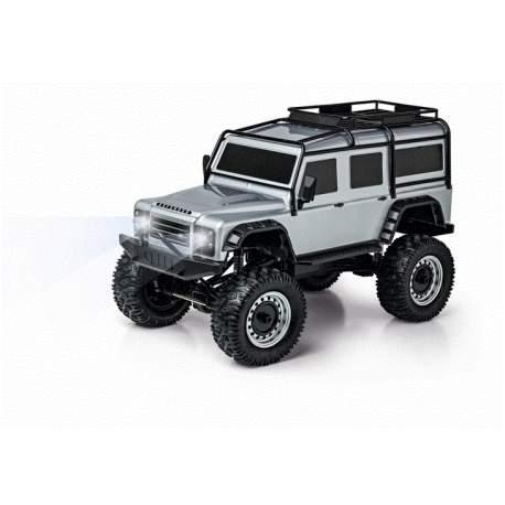 Coche Rc Elec. Land Rover Defender 100% RTR silver-Carson
