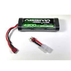 Bateria NiMH Stick Pack 7.2V 4200 (T-Plug + Adaptador Tamiya)-Absima