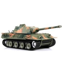 Tanque Rc GERMAN PANTHER UPGRADE 1:16 Versión V6.0 Airsoft humo y sonido - Heng Long