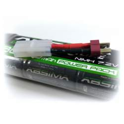 Batería NiMH Stick Pack 7.2V 3600, T-Plug + Adaptador Tamiya - Absima