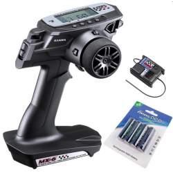 Emisora Sanwa MX6 + RX391 Waterproof + Batteries
