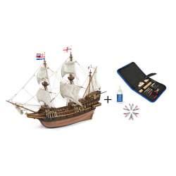 Set de iniciación Barco Golden Hind + Herramientas