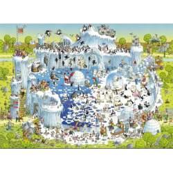 Puzzle 1000 Piezas Hábitat del Polo, Marino Degano - Heye