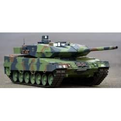 Tanque RC 1:16 German Leopard 1:16 2A6 Versión v6.0 Upgrade engranajes de acero 2.4G V6.0 - Heng Long