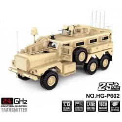 Camión Crawler U.S. Army MRAP Cougar 6x6 1/12 Desert.
