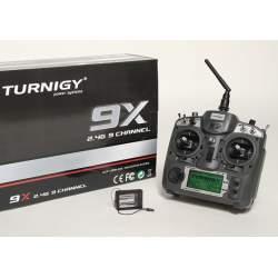 Emisora sticks 9 canales con receptor 8ch Turnigy 9X - 2.4 GHz.