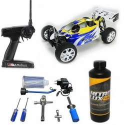 Pack Coche RC Buggy VRX-2 1/8 90Km/h + Accesorios