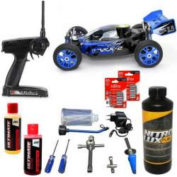 Pack Coche RC Buggy VRX-2 - 1/8 90Km/h + Accesorios - VRX