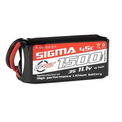 Batería Li-Po Sigma 45C 1500 mAh 3S1P 11.1V XT-60 - RC Plus
