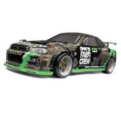 Micro RS4 Drift Fail Crew Nissan Skyline R34 GT-R RTR 1/18 Scale Drift Car - HPI Racing