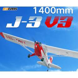 Avión J3 Piper Cub V3 14000MM brushless PNP - FMS