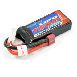 Batería Lipo 7,4V-1300mAh 30C (T-Dean) (Hard Case) - Voltz