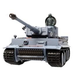 Tanque RC Tiger 1/16 Airsoft V6.0 2.4G Transmisones de acero - Heng Long