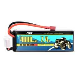 Batería de lipo 7,4V 4000Mah 50c Hardcase (Dean)